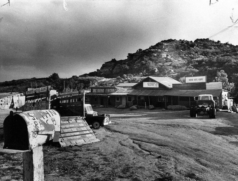 A photo of the Spahn Ranch taken by the LAPD in 1969, sourced from Jeff Droke's history of the ranch.