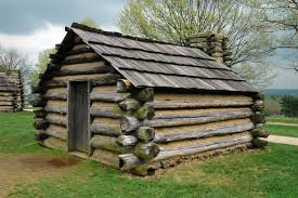 One of the huts a soldier slept in at Valley Forge