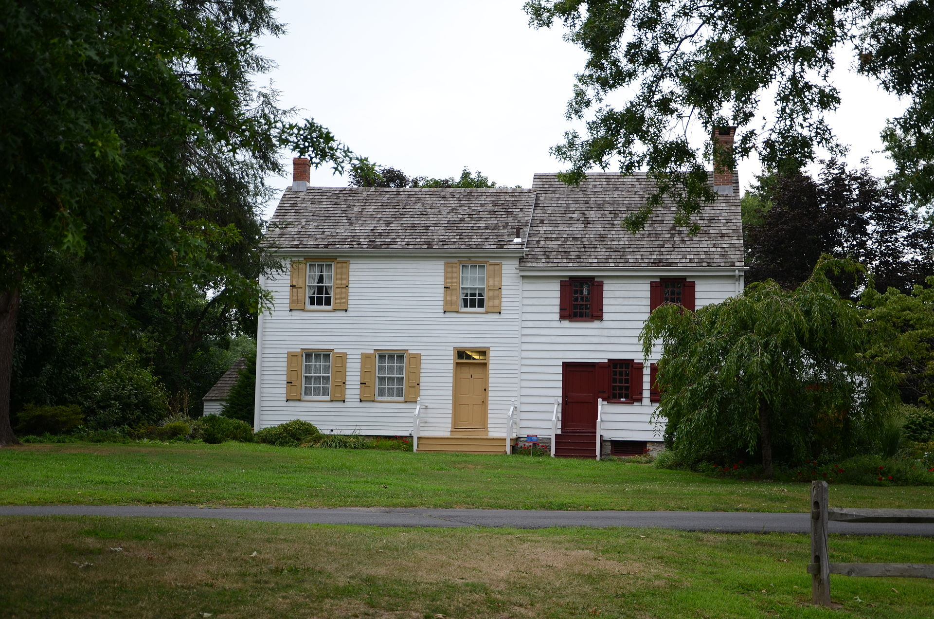 The John Abbott II House was built around 1730 and was the location where the colony's treasurer hid money in December 1776 after being forced to flee from advancing British troops in Trenton.