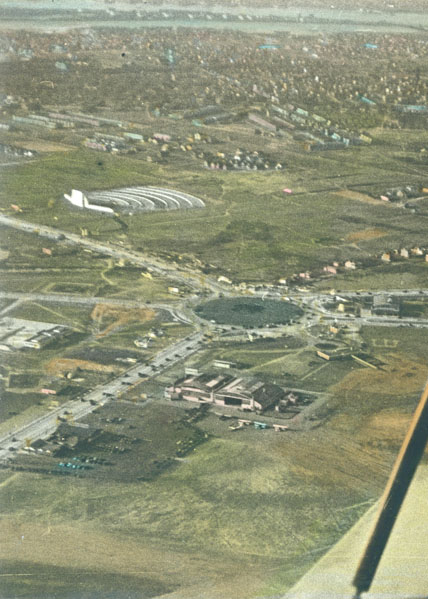 Aerial photo showing first drive-in