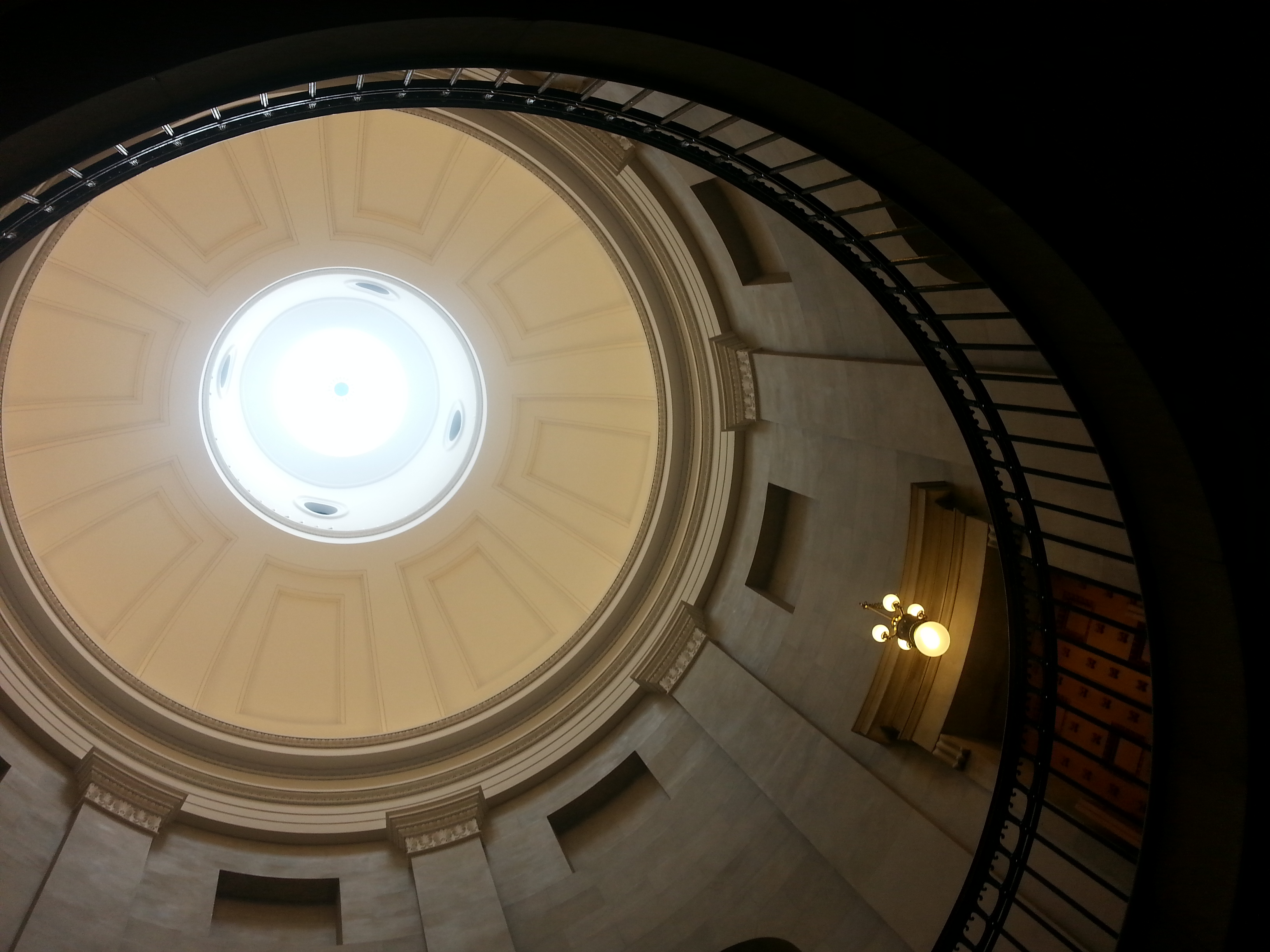 One of the Capitol's most distinctive features: its Rotunda.