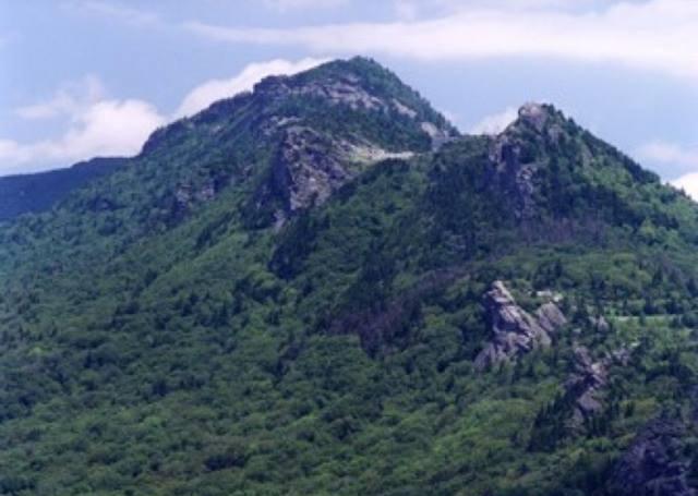 MacRae Peak (left) and Calloway Peak (Right).