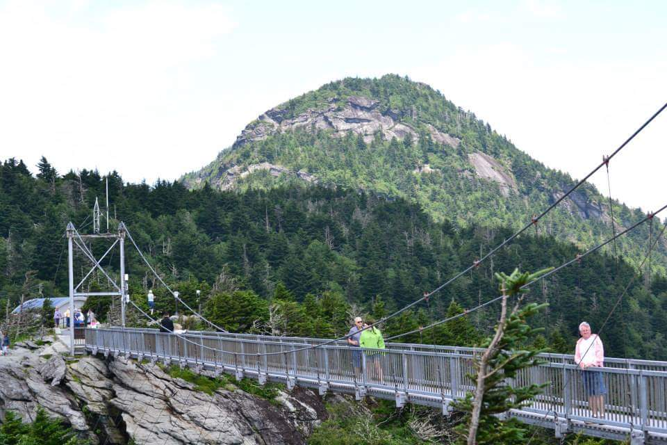 The Mile High Swinging Bridge.