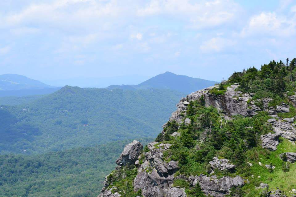 View of Nearby Hawksbill and Table Rock Mountains.