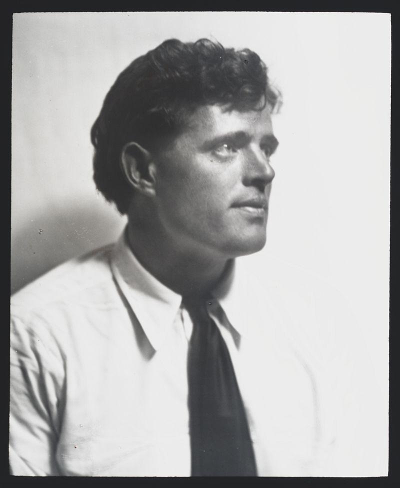 A portrait photograph of Jack London.