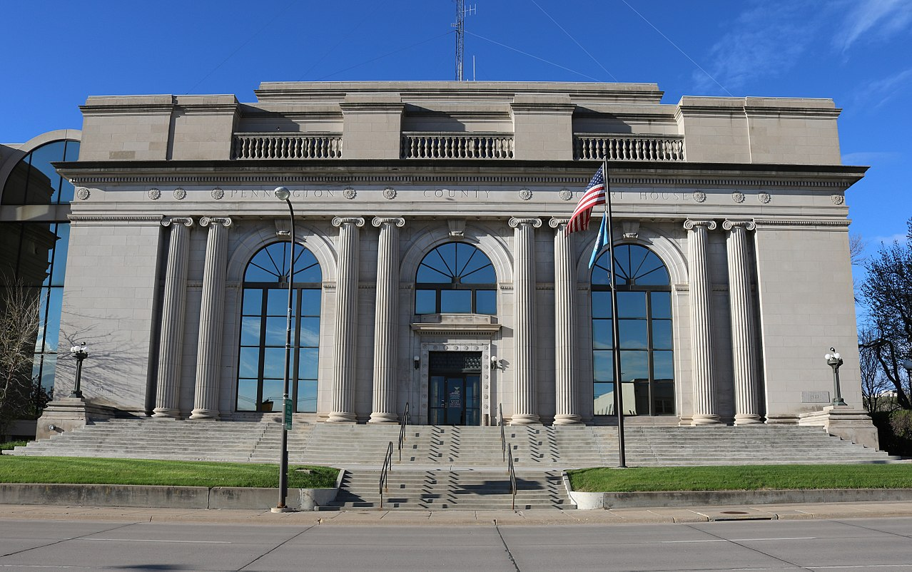 The Penningtion County Courthouse was built in 1922.