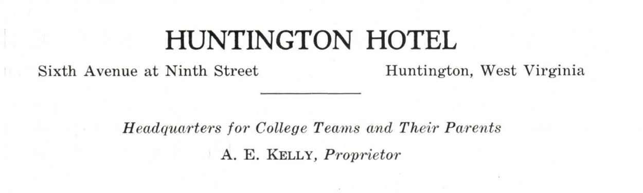 Ad for the Hotel Huntington from 1927