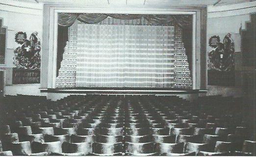 Interior view of Tiger Theatre, 1949.