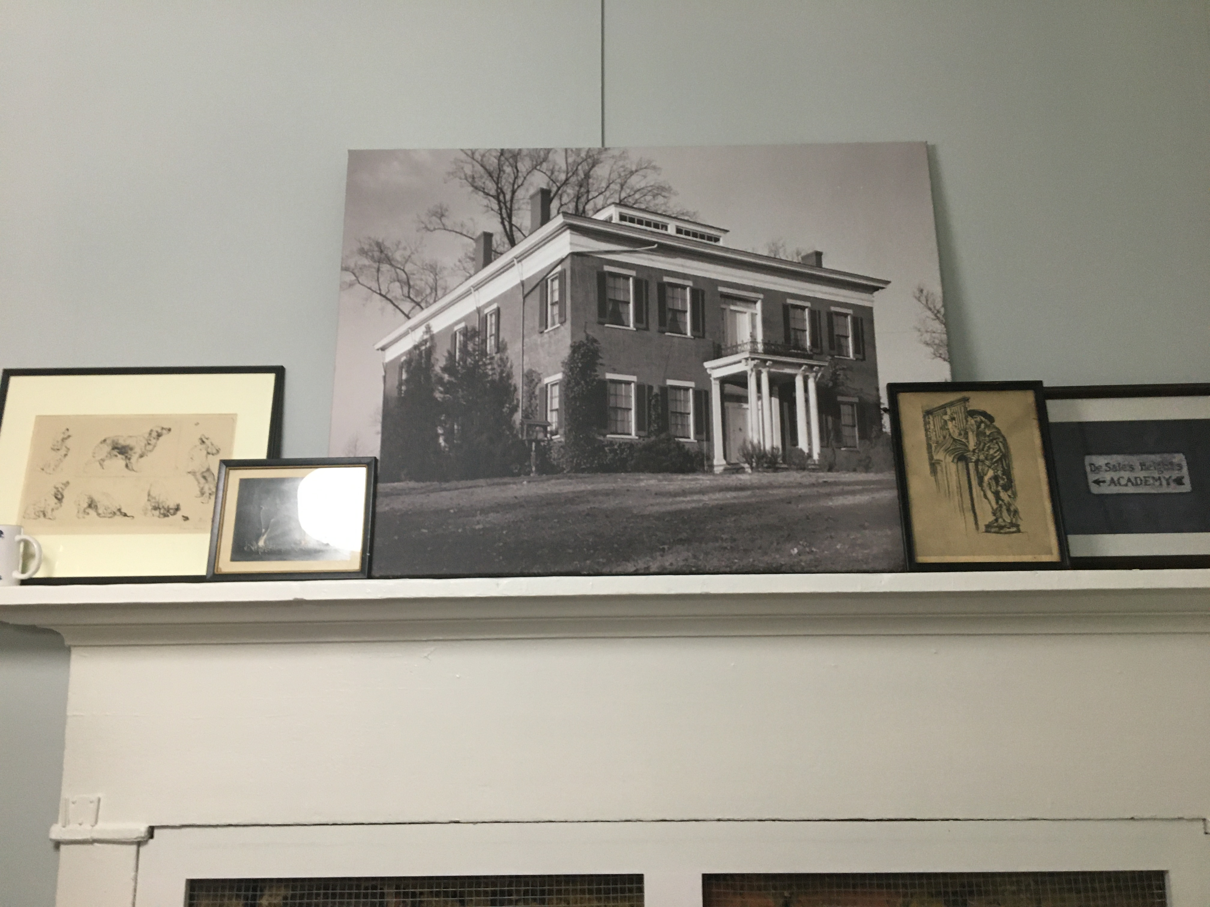 Old picture of the Stephenson Mansion