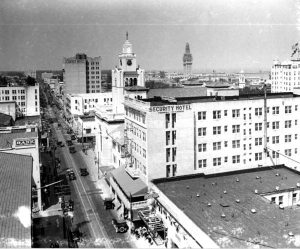 The site of the Security Building was originally occupied by the McKinnon Hotel, later renamed the Security Hotel. Image obtained from Miami-History.com.