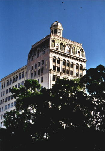 The Security Building is the only building in Miami to have a mansard roof. Image obtained from SkyscraperCity.