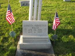 Loretta's grave site located in Olyphant, PA