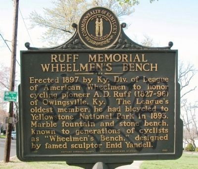 Ruff Memorial Bench Marker