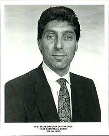 Jimmy Valvano Head Coach at NCSU