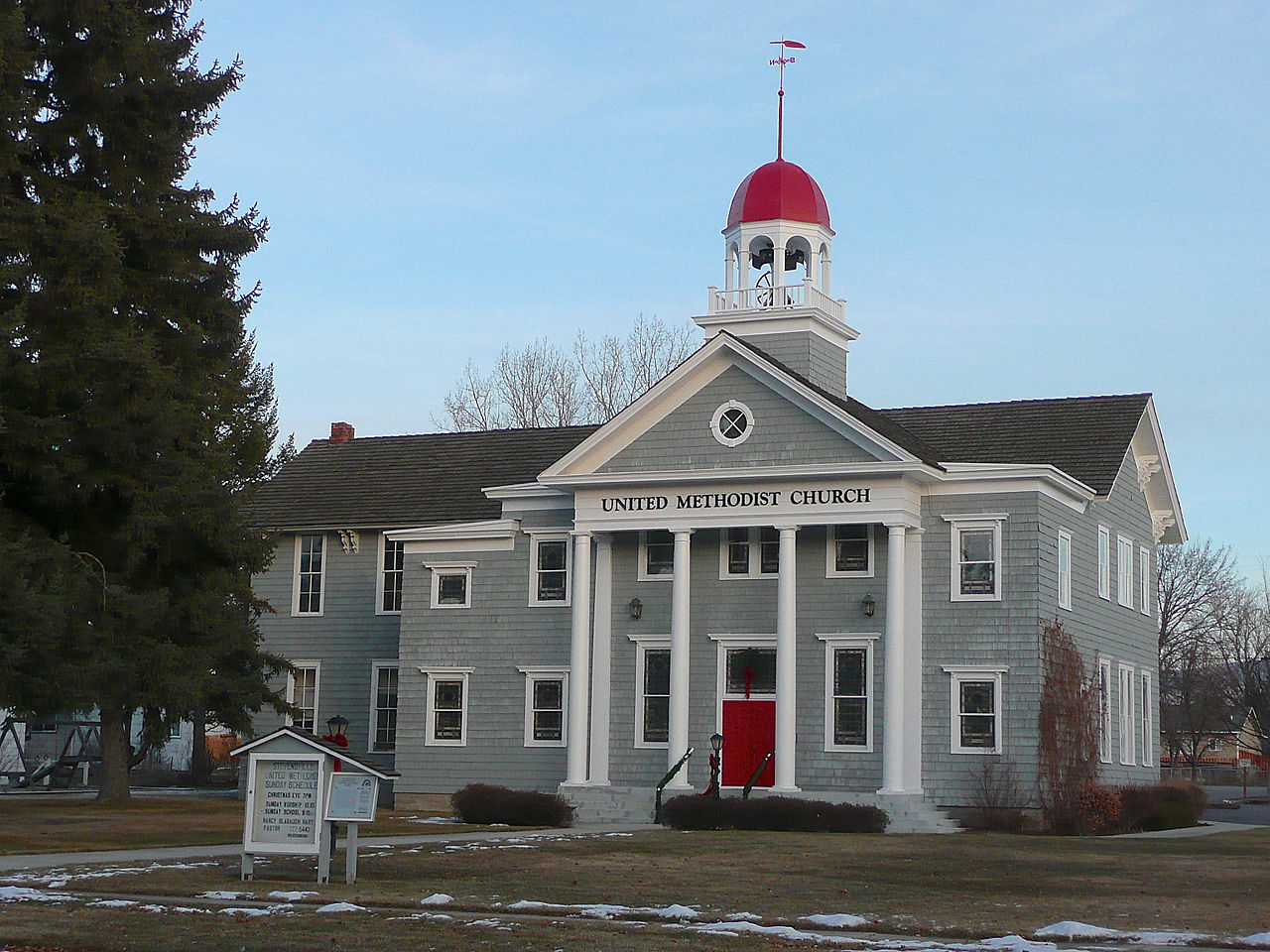 Stevensville United Methodist Church was originally built as a school in 1885. It was converted into a church in 1928.