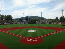 The field was renovated in recent years, including this new turf surface that was designed to better handle the rains of the Pacific Northwest.