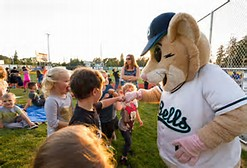 Bellingham Bells Mascot Interacts with Fans