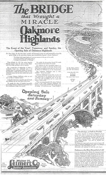 An advertisement drawing of the bridge.