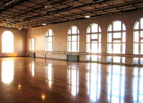 One of the building's rental studios.