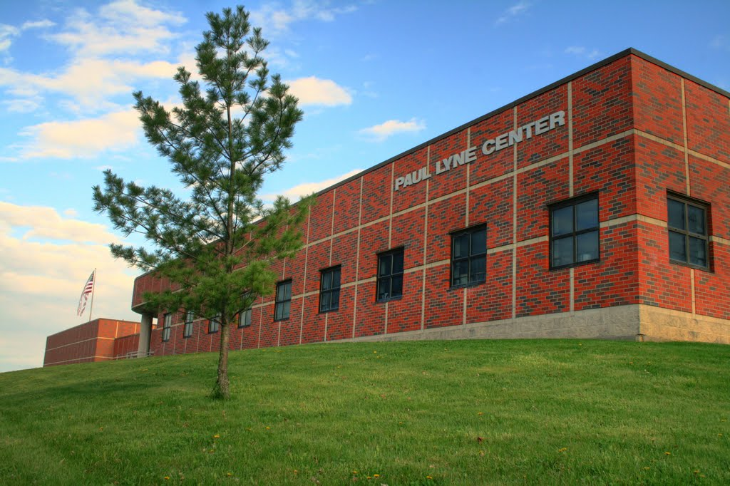 The arena is located inside the Lyne Center.