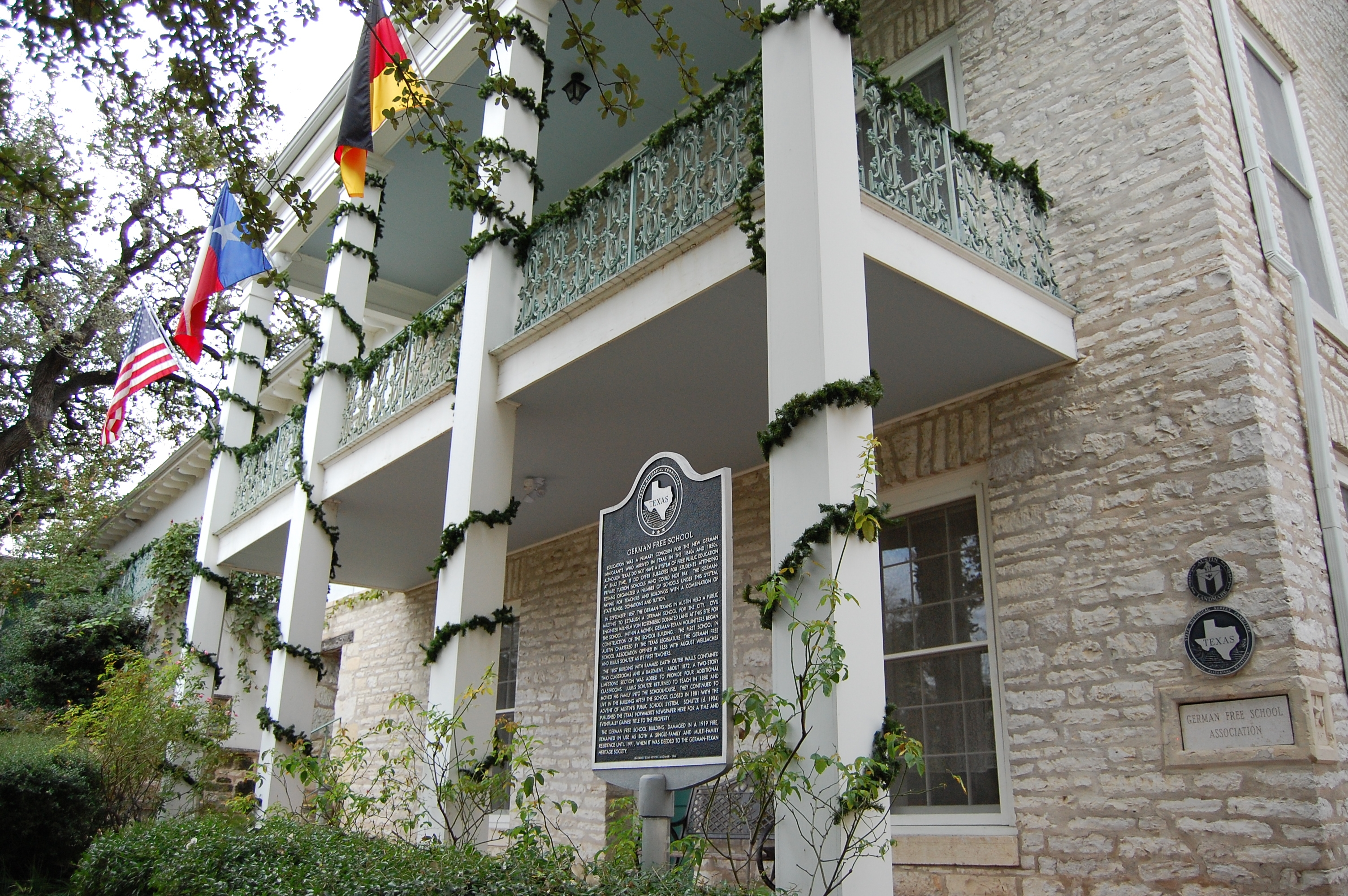 The German-Texan Heritage Society is housed in a German Free School built in 1858 for German immigrants. Image obtained from Wikimedia Commons.