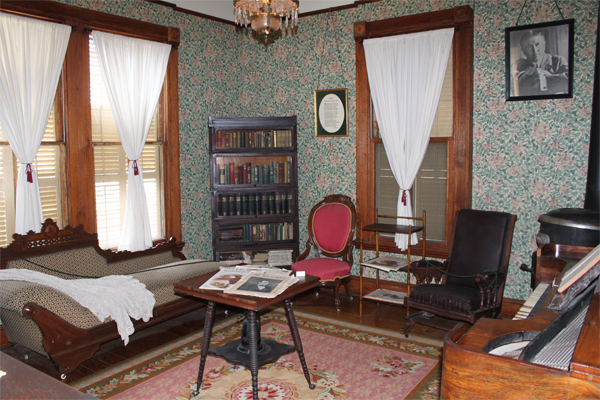 The O. Henry Museum has been restored and contains period furniture as well as some of O. Henry's personal belongings. Image obtained from the City of Austin.