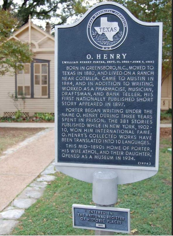 The O. Henry Museum was added to the National Register of Historic Places in 1973. Image obtained from the Texas State Historical Association.