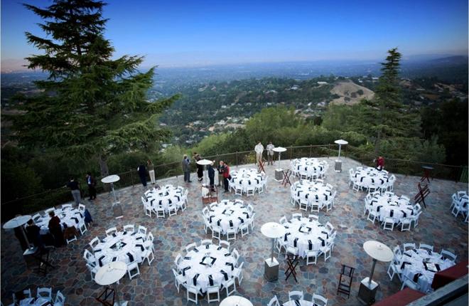 The same patio prior to hosting a wedding reception.