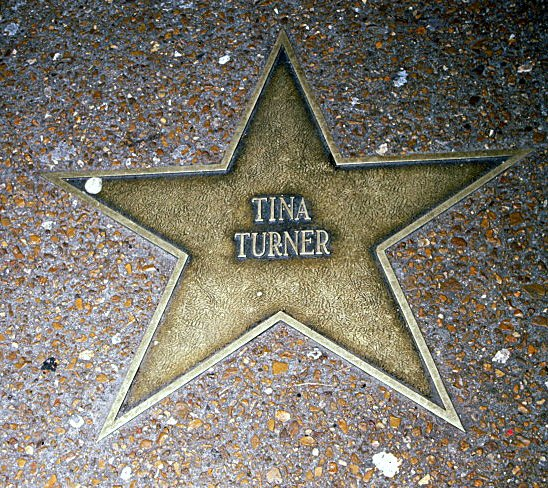 Entertainer Tina Turner's star on the St. Louis Walk of Fame