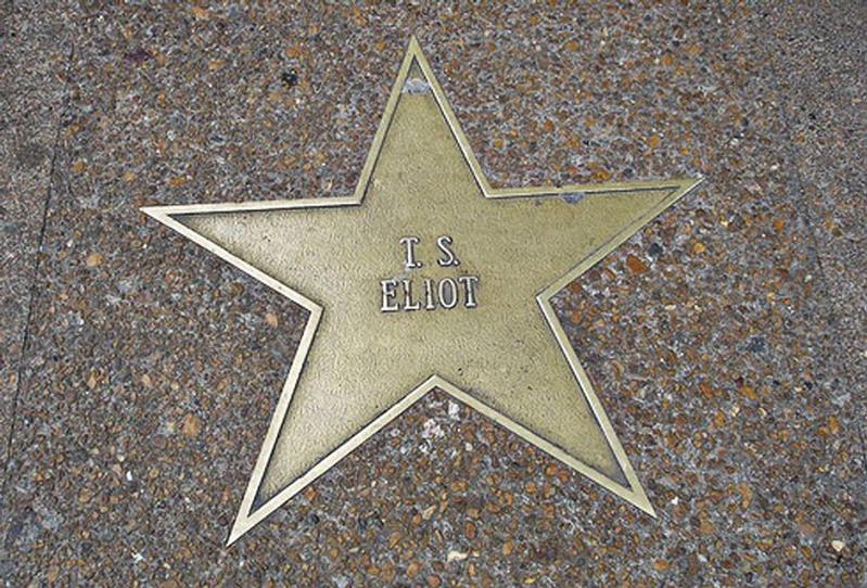 Poet T.S. Eliot's star on the St. Louis Walk of Fame