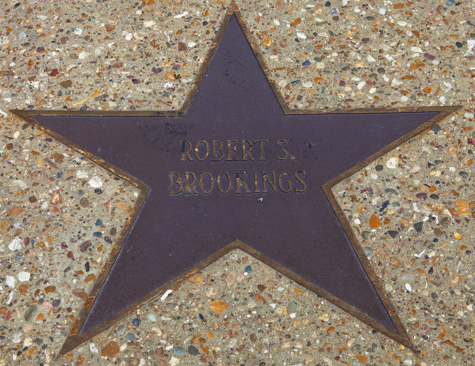 The star for Robert S. Brookings (founder of the Brookings Institution)