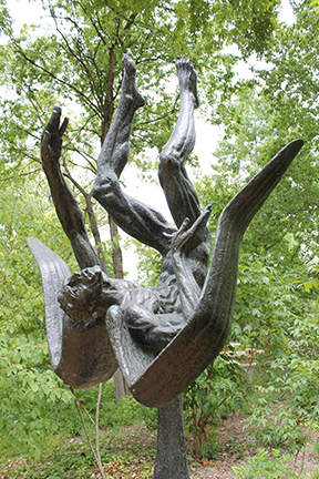 """""""Icarus,"""" created by Umlauf in 1965."""