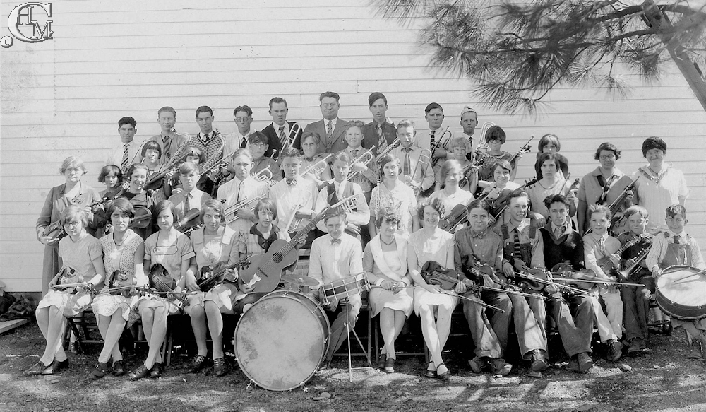 The Tyler school band about 1928