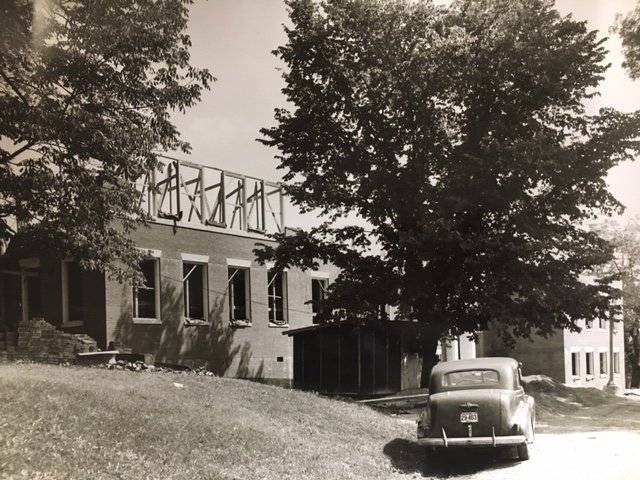 Farr-Chinnock Hall while it was under construction in 1951.