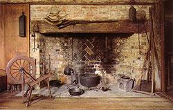 The fireplace (Courtesy of the Pilgrim John Howland Society)