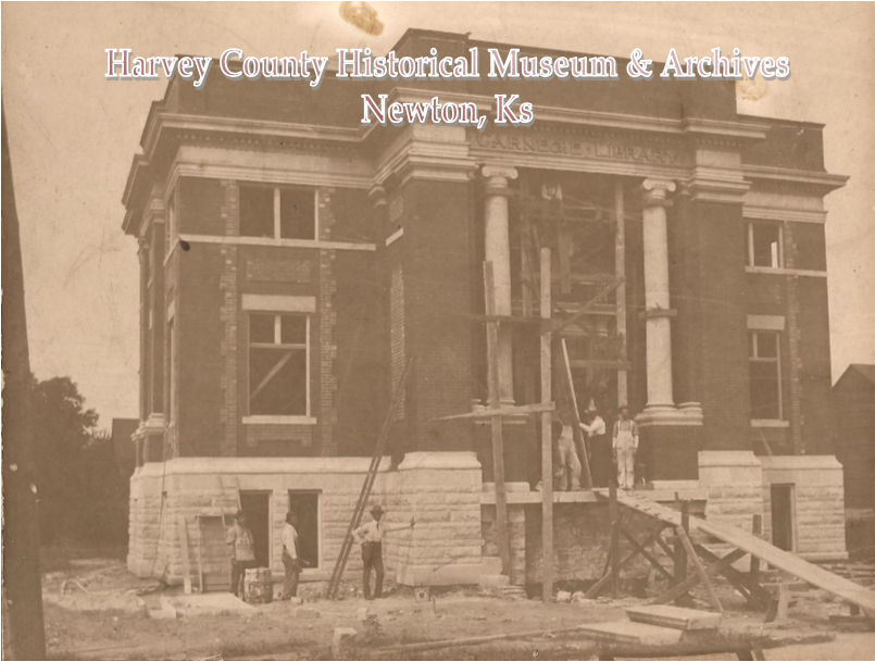 Newton's Carnegie Library under construction 1903.