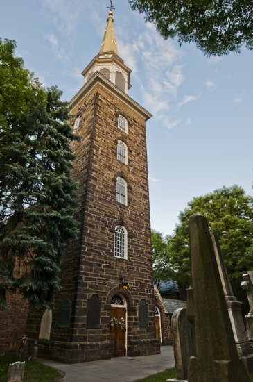 Christ Church tower (image from Revolutionary New Jersey)