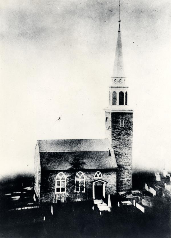 Rendering of Christ Church as originally constructed, 1745 (image from Christ Church New Brunswick)