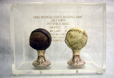 The actuals baseballs used in the game