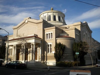 An outside shot of the Synagogue.