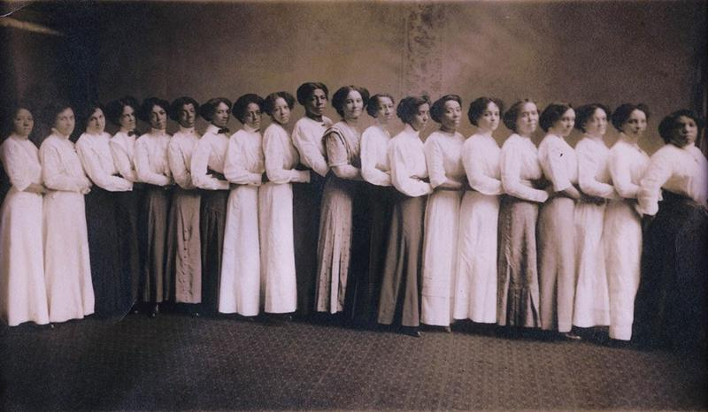 Members of the Cincinnati Federation of Colored Women's Clubs. Date unknown, but likely taken in the 1910's.
