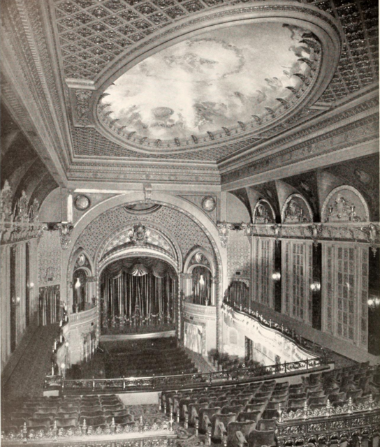 A black and white photo of the inside of the Theatre.
