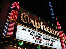 The Orpheum's neon sign.