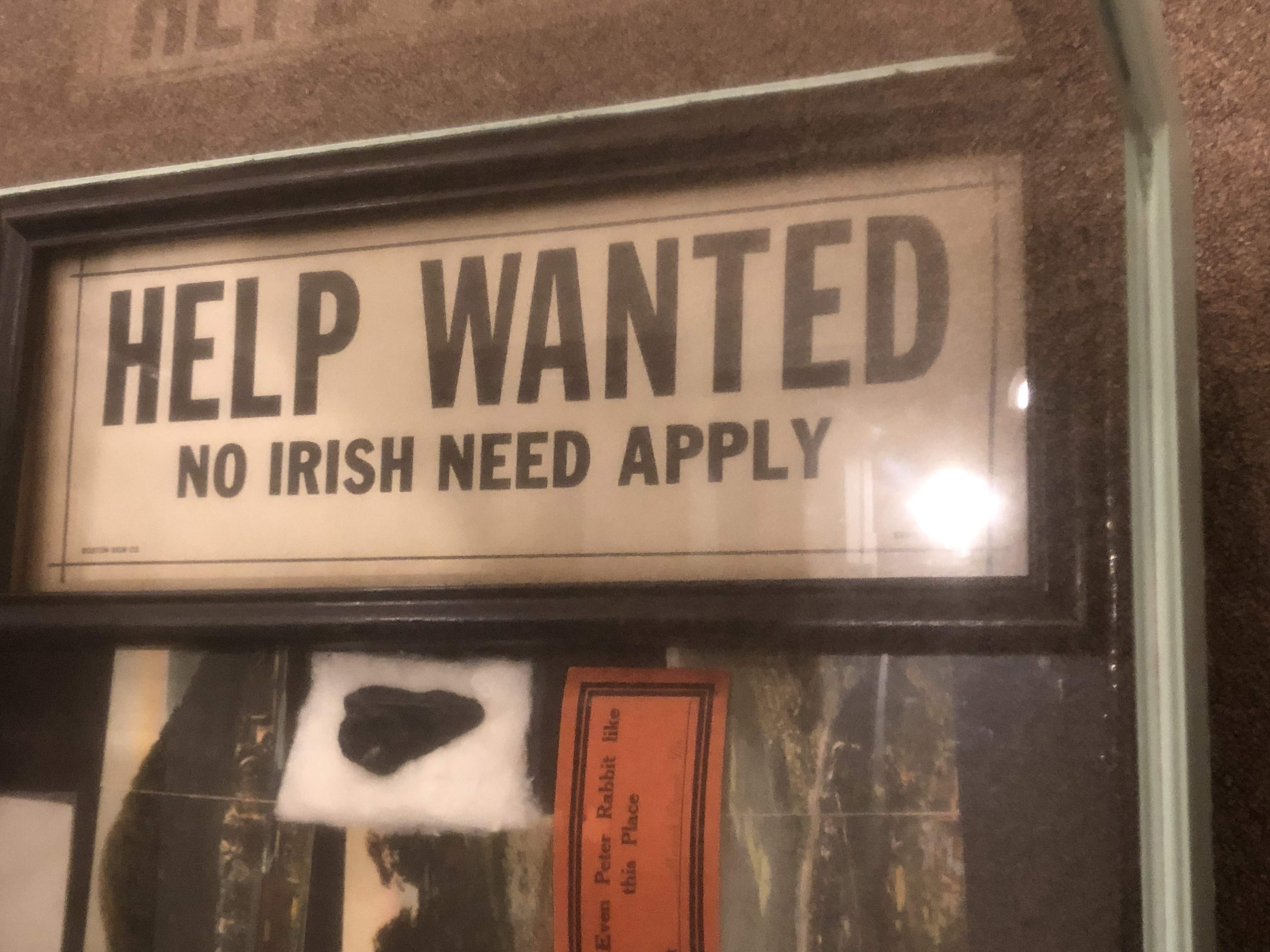 The discrimination Irish Immigrant workers faced