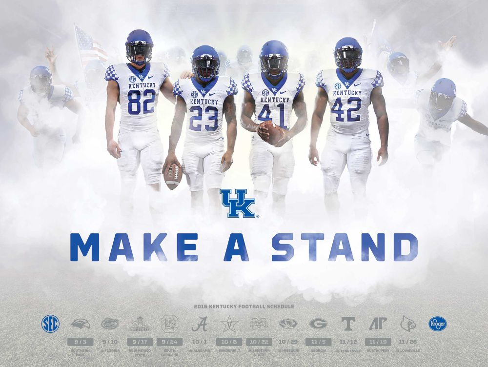This poster for the 2016 UK football schedule commemorates the four players.