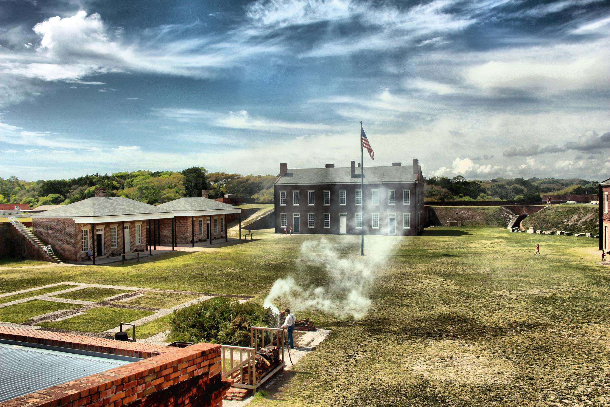Fort Clinch was saved thanks to the Works Progress Administration and restored to resemble its appearance in the Civil War.
