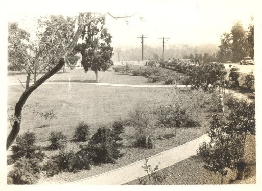 Eastern perimeter pathway, early 1930s