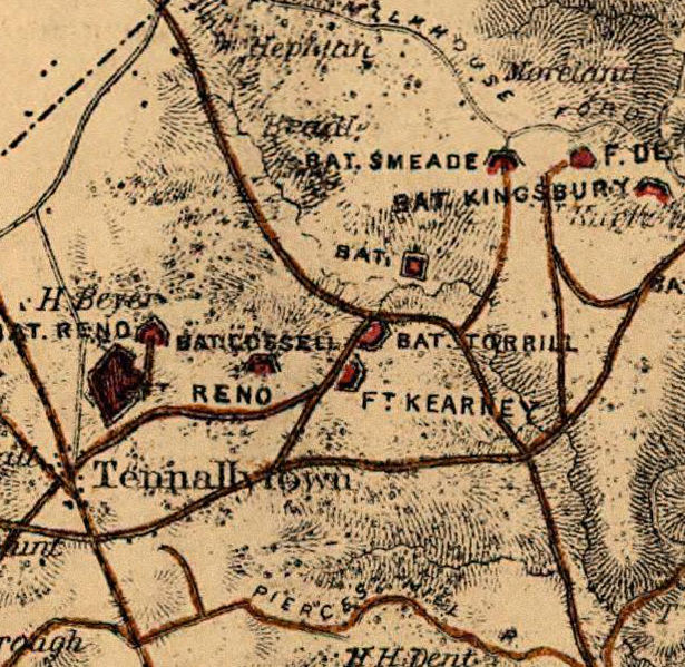 Close Up 1865 Map of the Fort Reno facility