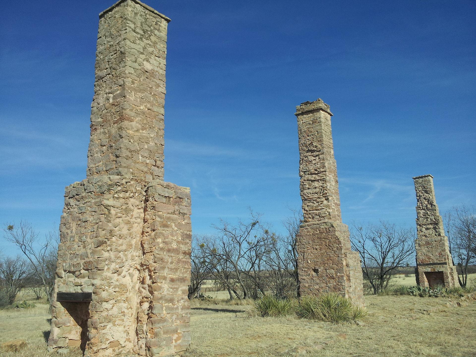 Ruins of chimneys