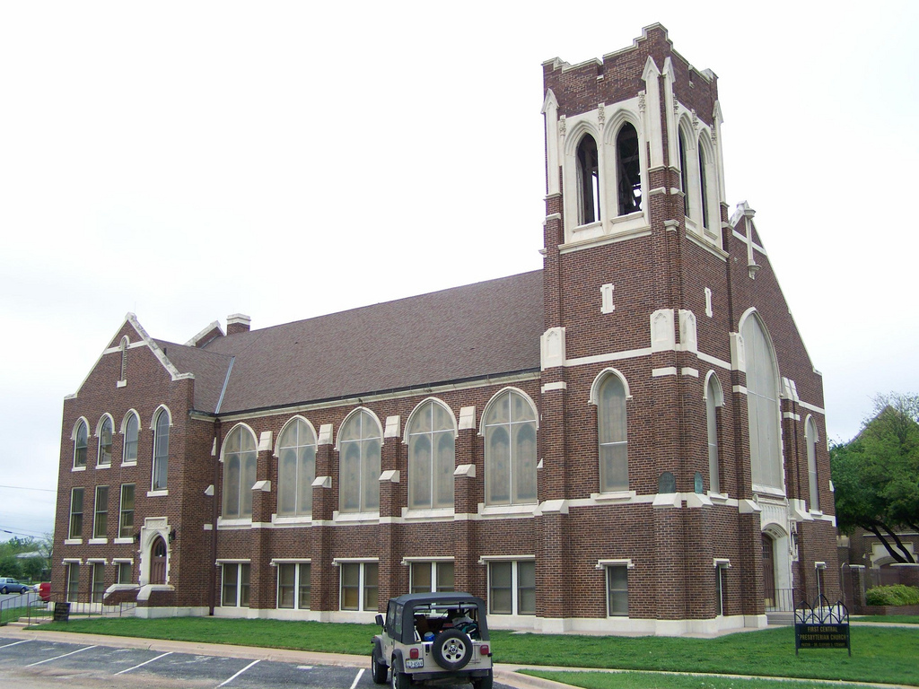 The First Presbyterian Church was built in 1924 and is the city's best-preserved church building.